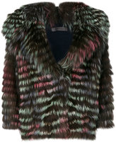 Simonetta Ravizza large lapel fur jacket