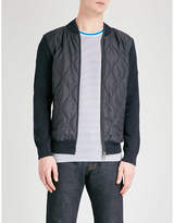 Barbour Track zip-through knitted jacket