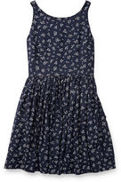 Ralph Lauren 7-16 Floral Fit-And-Flare Dress