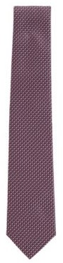 HUGO BOSS Silk tie in a multi-coloured micro-pattern jacquard