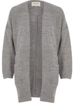 River Island Womens Grey casual long jersey jacket