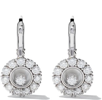 Chopard 18kt white gold Happy Diamonds earrings