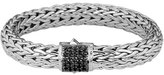 John Hardy Silver Classic Chain Bracelet w/ Pave Clasp