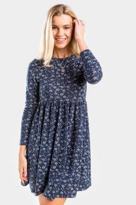 francesca's Tiffany Babydoll Mini Dress - Navy