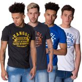 Kangol Mens T Shirt Crew Neck Short Sleeve Brand Printed Cotton Casual Tee Top