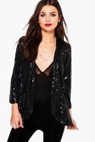 Boohoo Lily Boutique Sequin Tailored Blazer