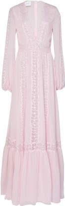 Giambattista Valli Lace Inset Silk-Chiffon Gown