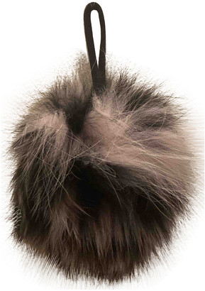 CHARLOTTE SIMONE Black Fur Bag charms