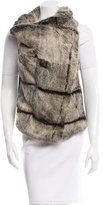 Helmut Lang Leather-Accented Fur Vest