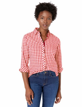 Foxcroft Women's Petite Morgan Non Iron Gingham Blouse