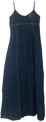 Replay Blue Cotton Dress for Women Vintage