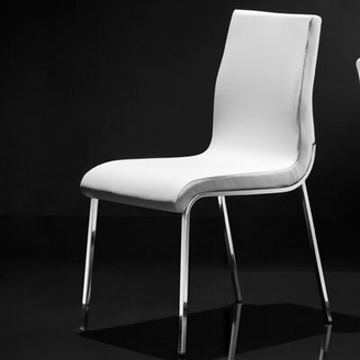 Wade Logan Brockton Upholstered Dining Chair (Set of 4 Upholstery Color: White