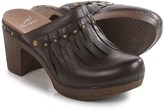 Dansko Deni Fringed Clogs - Leather (For Women)