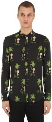 Garçons Infideles Palm Print Viscose Poplin Shirt