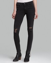 Rag & Bone Jeans - The Skinny in Soft Rock with Holes