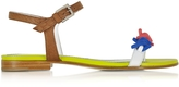 DSQUARED2 Babe Wire Multicolor Leather Flat Sandal