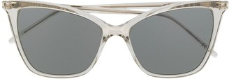 Saint Laurent SL 384 thin cat-eye sunglasses