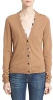 Burberry Women's Check Trim Wool Cardigan