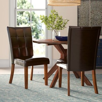 Hokku Designs Madrid Upholstered Side Chair in Dark brown