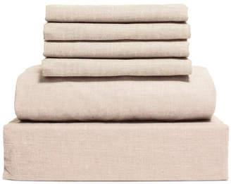 Chambray 6-Piece Sheet Set, Size- King Bedding