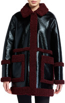 Stand Haley Faux Shearling-Trim Jacket