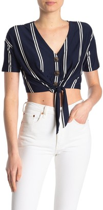 Hyfve Front Tie Cropped Top