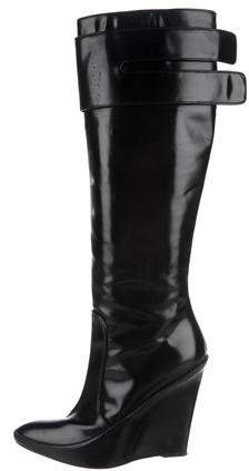 Givenchy Leather Wedged Boots