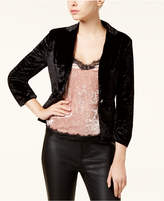 XOXO Juniors' Crushed Velvet Ruched-Sleeve Blazer