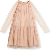 Stella McCartney Misty Sparkle Embellished Tulle Dress, Size 4-14