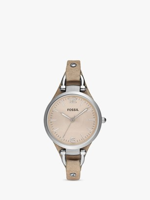 Fossil ES2830 Georgia Women's Leather Strap Watch, Sand