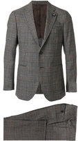 Lardini classic formal suit - men - Cupro/Viscose/Wool - 48