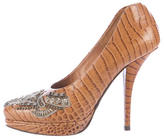 Dries Van Noten Embellished Embossed Pumps