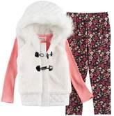 Little Lass Toddler Girl Faux Fur Hooded Vest