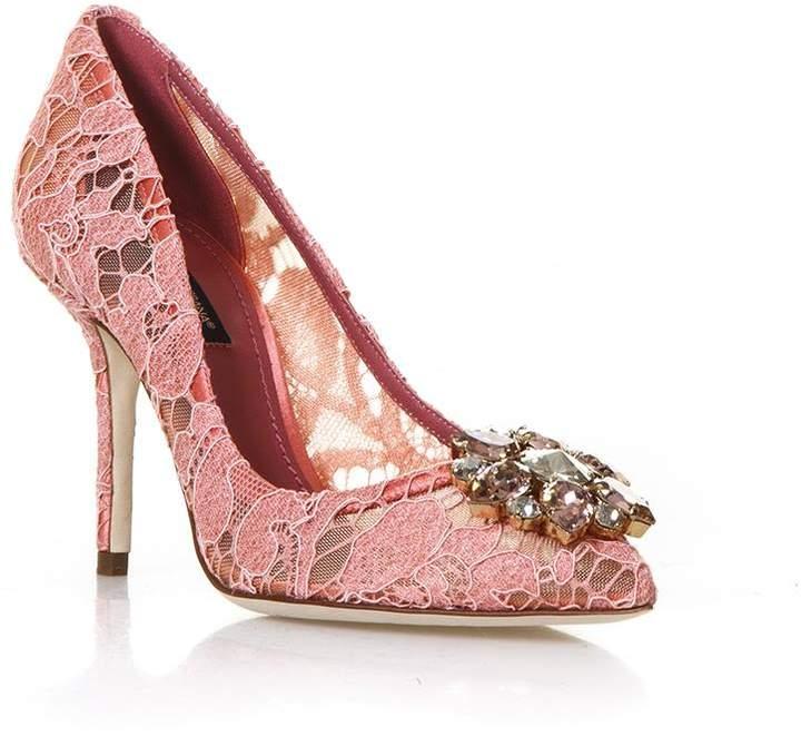 Dolce & Gabbana 90mm Bellucci Lace & Swarovski Pumps