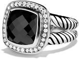 David Yurman Albion Ring with Black Onyx & Diamonds