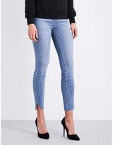 Good American Good Legs cascade-hem skinny high-rise jeans