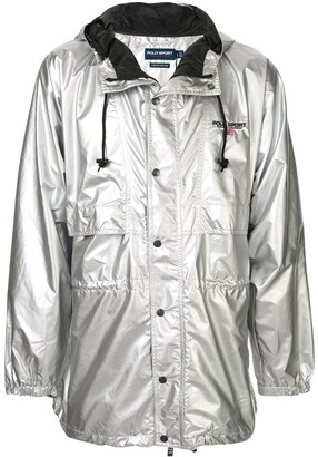 Ralph Lauren P-Wing metallic raincoat