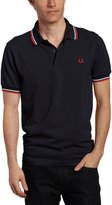 Fred Perry Men's Twin Tipped Polo Shirt, Navy/White/Red