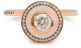 Selim Mouzannar Mina 18kt Rose Gold, Diamond & Enamel Ring - Pink