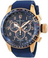 Nautica Men's Quartz Watch with Chronograph Quartz Leather NAI28500G
