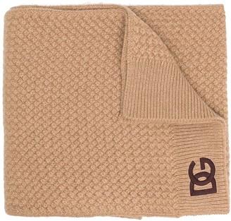Dolce & Gabbana Knitted Logo Scarf