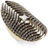 Mizuki Women's Feather Medallion Diamond Ring