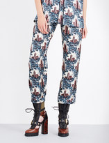 Burberry Castle-print silk-satin trousers