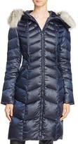 T Tahari Emma Faux Fur Trim Puffer Coat