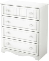 Green Baby South Shore Savannah Collection 4-Drawer Chest - Pure White