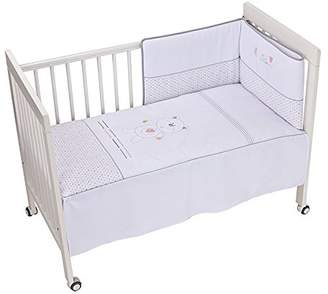 Piccolandy Quilt with Removable Cover + Cot Bumper Set Multi-Coloured