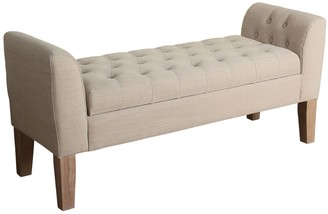 HomePop Kate Tufted Settee Storage Bench