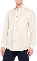 Bogosse Beige Linen Button-Down Shirt