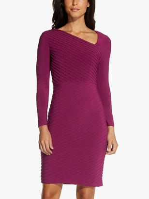 Adrianna Papell Angled Sheath Textured Mini Dress, Burgundy Glow