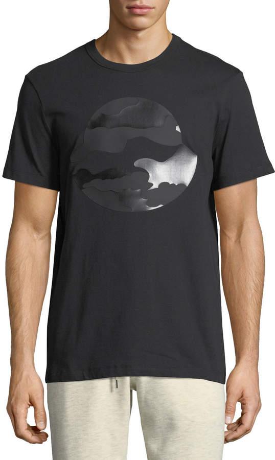 Moncler Tonal Camouflage Logo T-Shirt, Black